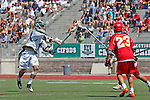 San Diego, CA 05/21/11 - Dominic Thomas (Cathedral Catholic #23) and Kyle Runyon (Coronado #7) in action during the 2011 CIF San Diego Section Division 2 Varsity Lacrosse Championship between Cathedral Catholic and Coronado.