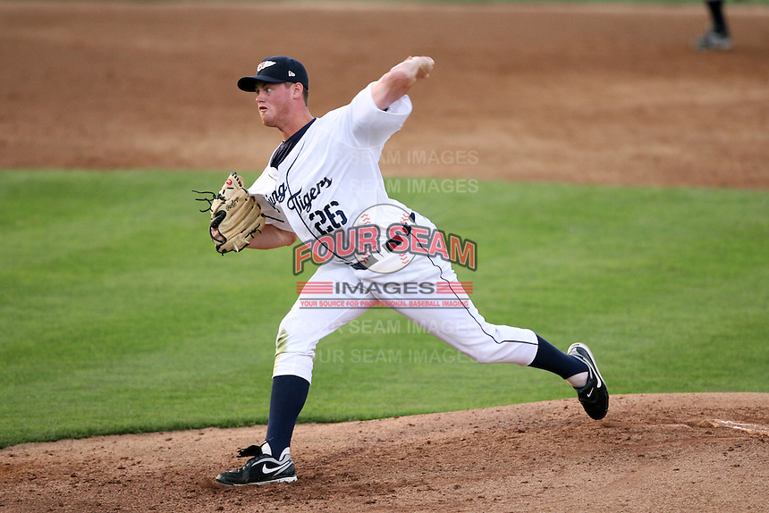 April 11, 2009:  Pitcher Charles Furbush (26) of the Lakeland Tigers, Florida State League Single-A affiliate of the Detroit Tigers, delivers a pitch during a game at Joker Marchant Stadium in Lakeland, Florida.  (Mike Janes/Four Seam Images via AP Images)