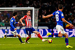 Filipe Luis of Atletico de Madrid (C) in action during the La Liga 2018-19 match between Atletico de Madrid and Athletic de Bilbao at Wanda Metropolitano, on November 10 2018 in Madrid, Spain. Photo by Diego Gouto / Power Sport Images