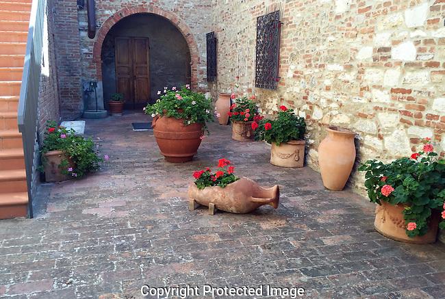 Courtyard near Radda in Chianti