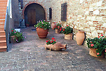 Courtyard near Radda in Chianti