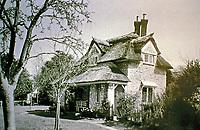 Blaise Hamlet Plan by John Nash, 1810-11. Oak Cottage. West Bristol, England. Picturesque style.