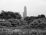 University of Pittsburgh Cathedral of Learning from Schenley Park - 1962
