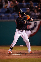 San Jose Giants right fielder Bryce Johnson (23) during a California League game against the Visalia Rawhide on April 12, 2019 at San Jose Municipal Stadium in San Jose, California. Visalia defeated San Jose 6-2. (Zachary Lucy/Four Seam Images)