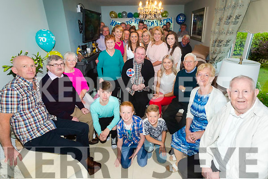 Sean MC Quinn, Monalee, Tralee celebrates his 70th Birthday with family and friends at home on Saturday