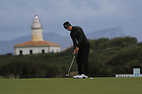 Matthew Jordan (ENG) on the 17th green during Round 4 of the Challenge Tour Grand Final 2019 at Club de Golf Alcanada, Port d'Alcúdia, Mallorca, Spain on Sunday 10th November 2019.<br /> Picture:  Thos Caffrey / Golffile<br /> <br /> All photo usage must carry mandatory copyright credit (© Golffile | Thos Caffrey)