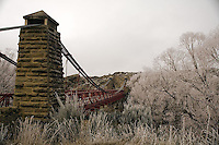 Ophir bridge, ophir, bridge, central otago, hoar frost, new zealand