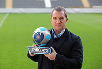 2012 02 07 Brendan Rodgers, Barclays manager of the Month, Liberty Stadium, south Wales, UK