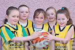 MY BALL: The Jets team that competed in the Basketball Blitz in Currow Community Centre last Saturday. L-r: Molly OCallaghan, Aisling Moriarty, Micheala Breen, Kerrie McCarthy and Fiona Nelligan-McGuire..