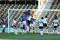 30th July 2020; Craven Cottage, London, England; English Championship Football Playoff Semi Final Second Leg, Fulham versus Cardiff City; Curtis Nelson of Cardiff City scores for 0-1 in the 8th minute