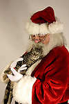 Santa Claus and a Christmas Kitten