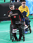 Iulian Ciobanu competes in  Boccia at the 2019 ParaPan American Games in Lima, Peru-1aug2019-Photo Scott Grant