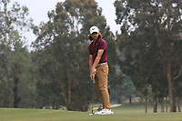 Tommy Fleetwood (ENG) on the 4th green during Round 4 of the UBS Hong Kong Open, at Hong Kong golf club, Fanling, Hong Kong. 26/11/2017<br /> Picture: Golffile | Thos Caffrey<br /> <br /> <br /> All photo usage must carry mandatory copyright credit     (&copy; Golffile | Thos Caffrey)