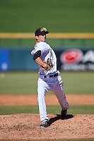 Mesa Solar Sox pitcher James Buckelew (25), of the Miami Marlins organization, during a game against the Scottsdale Scorpions on October 18, 2016 at Sloan Park in Mesa, Arizona.  Mesa defeated Scottsdale 6-3.  (Mike Janes/Four Seam Images)