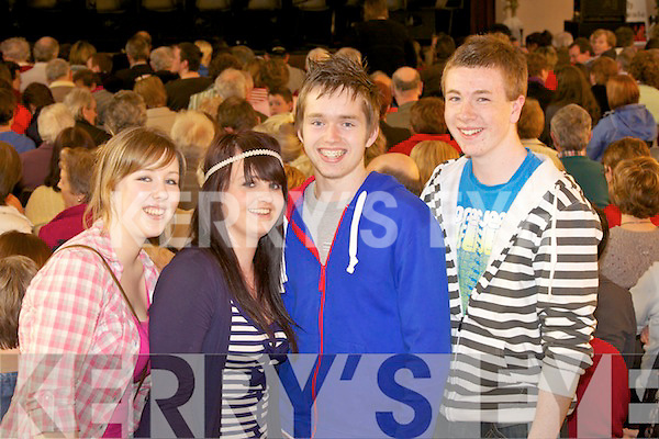 Jayne Linehan, Eveny Costello, Donal Linehan and Cian Dennehy from Millstreet pictured at the Traditional Concert in the Convent Hall, last Sunday night.