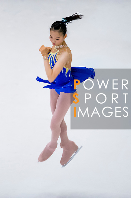 Rachel Hoi Tik Yu competes during the Asian Junior Figure Skating Challenge 2015 on October 07, 2015 at the Festival Walk Mall in Hong Kong, China. Photo by Aitor Alcalde/ Power Sport Images