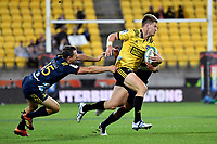 Hurricanes' Jordie Barrett in action during the Super Rugby - Hurricanes v Highlanders at Westpac Stadium, Wellington, New Zealand on Friday 8 March 2019. <br /> Photo by Masanori Udagawa. <br /> www.photowellington.photoshelter.com