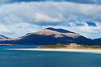 View towards Luskentyre beach, Isle of Harris, Outer Hebrides, Scotland