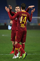Ivan Marcano of AS Roma celebrates with Patrik Schick after scoring second goal for his side <br /> Roma 14-01-2019 Stadio Olimpico<br /> Football Calcio Coppa Italia 2018/2019 Round of 16  <br /> AS Roma - Virtus Entella<br /> Foto Gino Mancini / Insidefoto