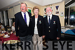 Ceann Sibeal Golf Club President Dave Donovan, Lady President Berna O'Mahony and Captain Frank Murphy during Ceann Sibeal Captain's Day on Sunday.