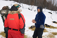 Robert Sorlie on Yukon River Gives Interview Eagle Is Chkpt 2005 Iditarod
