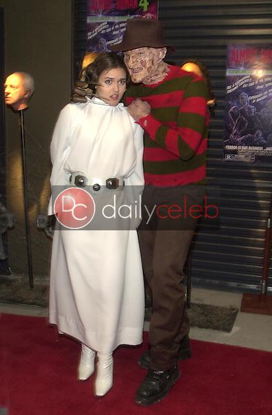 Danica McKellar and Freddy Kreuger