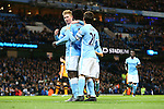 Wilfried Bony of Manchester City celebrates the opening goal with Kevin de Bruyne - Manchester City vs Hull City - Capital One Cup - Etihad Stadium - Manchester - 29/12/2015 Pic Philip Oldham/SportImage