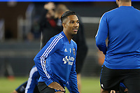 San Jose, CA - Saturday October 06, 2018: Danny Hoesen prior to a Major League Soccer (MLS) match between the San Jose Earthquakes and the New York Red Bulls at Avaya Stadium.