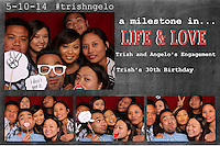Trish & Angelo Engagement Party Photo Booth 5/10/14