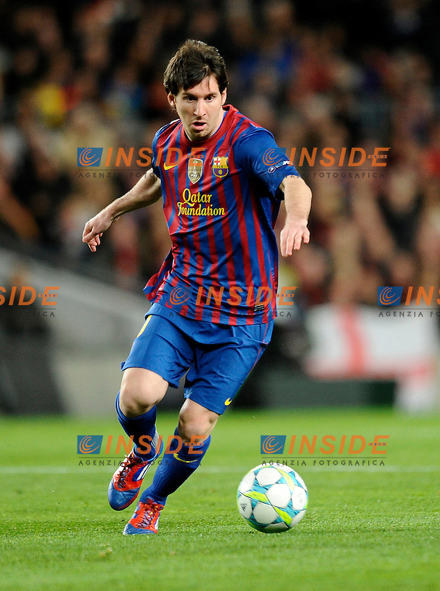 Lionel Messi (Barcelona).07/03/2012 Barcellona.UEFA Champions League.Barcelona vs Bayer Leverkusen.photo Insidefoto / Paco Largo / Panoramic .Italy Only