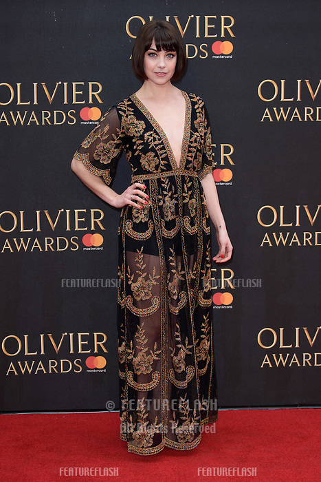 Leanne Cope arriving for the Olivier Awards 2018 at the Royal Albert Hall, London, UK. <br /> 08 April  2018<br /> Picture: Steve Vas/Featureflash/SilverHub 0208 004 5359 sales@silverhubmedia.com