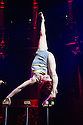 London, UK. 10.04.2014. Australian circus ensemble, Company 2, bring SHE WOULD WALK THE SKY to the Roundhouse, as part of CircusFest 2014. Picture shows: Alex Mizzen (the Distant One). Photograph © Jane Hobson.