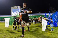James Phillips and the rest of the Bath Rugby team run out onto the field. European Rugby Champions Cup match, between Benetton Rugby and Bath Rugby on January 20, 2018 at the Municipal Stadium of Monigo in Treviso, Italy. Photo by: Patrick Khachfe / Onside Images