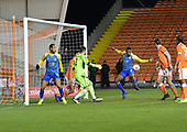 18/12/18 The Emirates FA Cup, 2nd Round Replay Blackpool v Solihull Moor<br /> <br /> Tyrone Williams unable to connect in front of goal