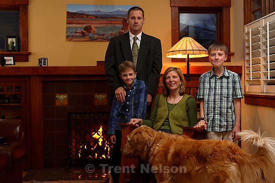 Laura Nelson, Sophie, Noah Nelson, Nathaniel Nelson, Trent Nelson. Christmas card, xmas photo<br />