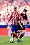 Antoine Griezmann of Atletico de Madrid runs with the ball during the La Liga match between Atletico Madrid and Eibar at Wanda Metropolitano Stadium on May 20, 2018 in Madrid, Spain. Photo by Diego Souto / Power Sport Images