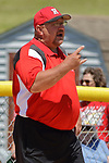 02 June 2017:  George VanWinkle.  Goreville Blackcats v Heyworth Hornets class 1A IHSA Class 1A Softball Semi-Final at Eastside Centre in East Peoria Illinois
