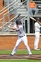 Buies Creek Astros outfielder Myles Straw (3) at bat during a game against the Winston-Salem Dash at Jim Perry Stadium on the campus of Campbell University on April 9, 2017 in Buies Creek, North Carolina. Buies Creek defeated Winston-Salem 2-0. (Robert Gurganus/Four Seam Images)