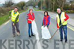 PRE-CLEANUP: On Tuesday voulenteers who will be helping out to do the Tralee pre Marathon-cleanup before the Tralee Marathan on the 16th March 2013 Mike Slattery,Mairead O'Carroll, Anne O'Riordan and Pat O'Carroll.