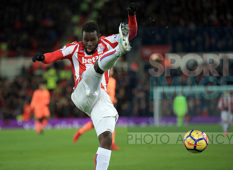 Mame Diouf of Stoke City during the premier league match at the bet365 Stadium, Stoke on Trent. Picture date 29th November 2017. Picture credit should read: Clint Hughes/Sportimage