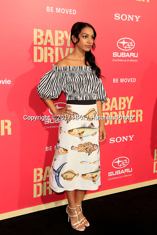 "LOS ANGELES - JUN 14:  Corinne Bishop at the ""Baby Driver"" Premiere at the The Theater at Ace Hotel on June 14, 2017 in Los Angeles, CA"