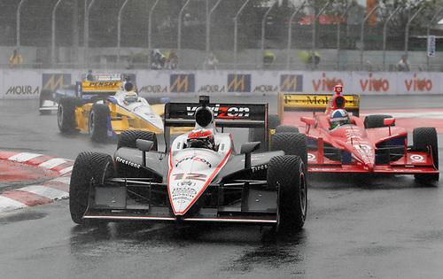 30 April - 1 May, 2011, Sao Paulo, Sao Paulo Brazil<br /> Will Power leads Dario Franchitti, Ryan Briscoe and Oriol Servia.<br /> © 2011 Phillip Abbott<br /> LAT Photo USA