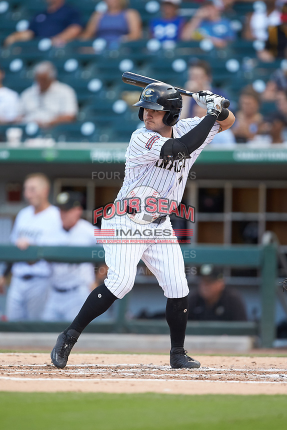 Eddy Alvarez (10) of the Charlotte Knights at bat against the Toledo Mud Hens at BB&T BallPark on June 22, 2018 in Charlotte, North Carolina. The Mud Hens defeated the Knights 4-0.  (Brian Westerholt/Four Seam Images)
