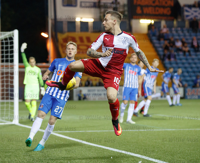 Barrie McKay tries to keep the ball in play