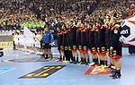 10.01.2019, Mercedes Benz Arena, Berlin, GER, Handball WM 2019, Deutschland vs. Korea, im Bild <br /> Deutsche Mannschaft, Nationalhymne<br /> <br />      <br /> Foto © nordphoto / Engler
