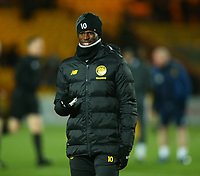 4th March 2020; Almondvale Stadium, Livingston, West Lothian, Scotland; Scottish Premiership Football, Livingston versus Celtic; Vakoun Issouf Bayo of Celtic wraps up during the warm up