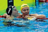 Ariarne Titum (R) of Australia, Gold Medal, Femke Heemskerk of Netherlands Bronze Medal <br /> Women's 200m Freestyle <br /> Hanghzhou 11/12/2018 <br /> Hangzhou Olympic & International Expo Center <br /> 14th Fina World Swimming Championships 25m <br /> Photo Andrea Staccioli/ Deepbluemedia /Insidefoto
