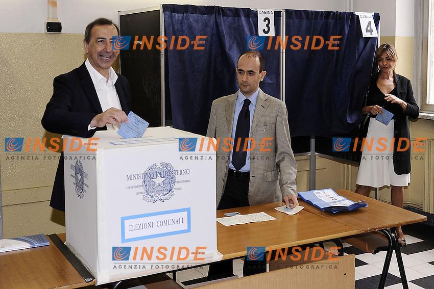 Giuseppe Sala<br /> Milano 19-06-2016 Elezioni comunali 2016 ballottaggio.  <br /> foto Daniele Buffa/Image/Insidefoto