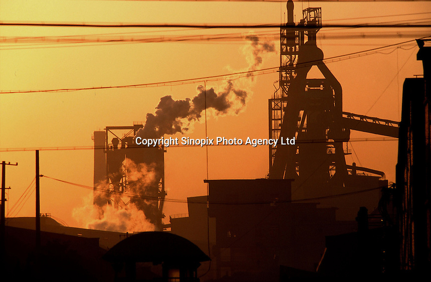 Polluted air comes out from a factory near Shanghai, China. Air pollution is the primary task of environmental protection in China..19-OCT-01