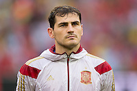 Goalkeeper Iker Casillas of Spain